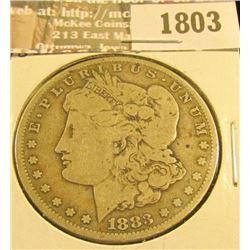 1803 _ 1883 CC U.S. Morgan Silver Dollar, Fine.