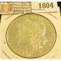 1804 _ 1889 S U.S. Morgan Silver Dollar, EF.