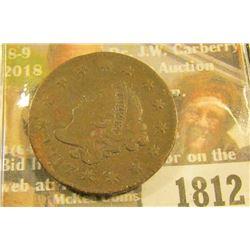 1812 _ 1817 U.S. Large Cent, VF.
