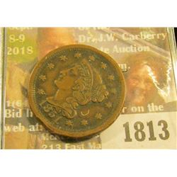 1813 _ 1851 U.S. Large Cent, VF.