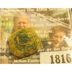 "1816 _ 1600 era Spanish ""Lion & Castle"" Copper 8 Marevedi Cob. A medieval coin similar to the Old Pi"
