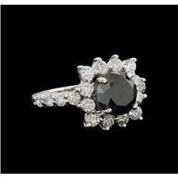 4.75 ctw Black Diamond Ring - 14KT White Gold