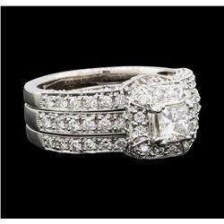 1.53 ctw Diamond Ring - 18KT White Gold
