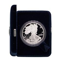 2005-W $1 American Silver Eagle 1 oz Fine Silver Bullion Proof Coin w/Box