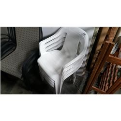 4 WHITE PATIO CHAIRS