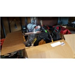 BOX OF TOOLS AND ELECTRIC DRILL