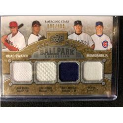 2009 Upper Deck Ballpark Collection - Emerging Stars Quad Swatch Memorabilia #233