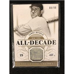 2014 National Treasures All-Decade Game Jersey Tommy Henrich