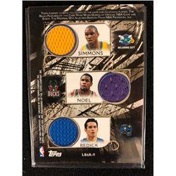2006-07 TOPPS LUXURY BOX BASKETBALL SIMMONS/ NOEL/ REDICK