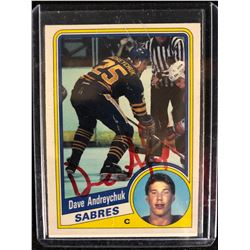 AUTOGRAPHED 1984-85 O-Pee-Chee #17 DAVE ANDREYCHUK Rookie Card