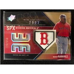 2003 SPx Winning Materials #250 WM-MR1 Manny Ramirez Boston Red Sox