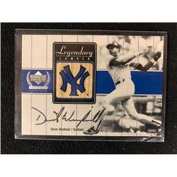 2000 Upper Deck Yankees Legends Legendary Lumber Dave Winfield Bat Card