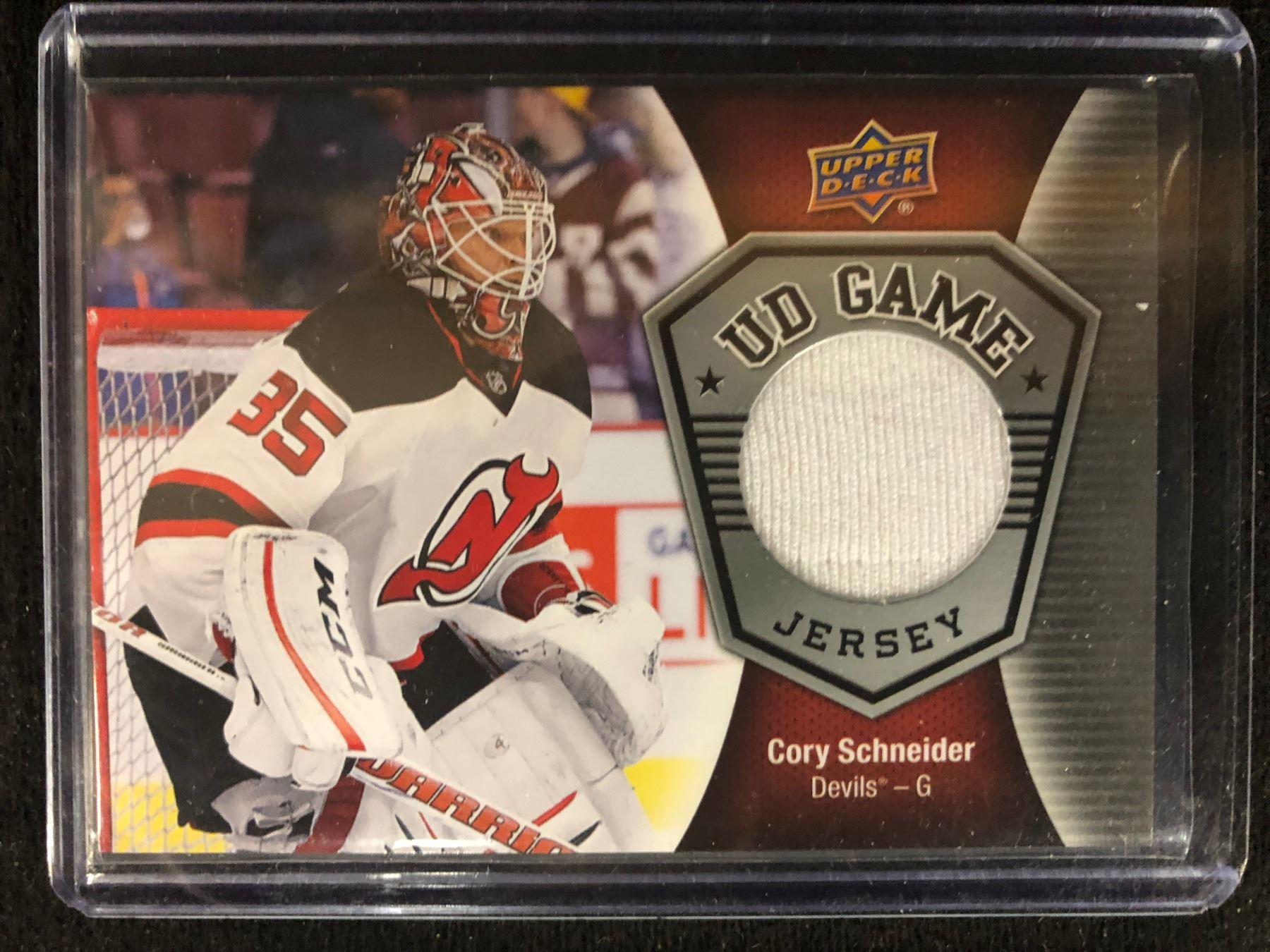 buy popular 02e65 d824a 2016-17 Upper Deck Game Jerseys #GJCS Corey Schneider New Jersey Devils