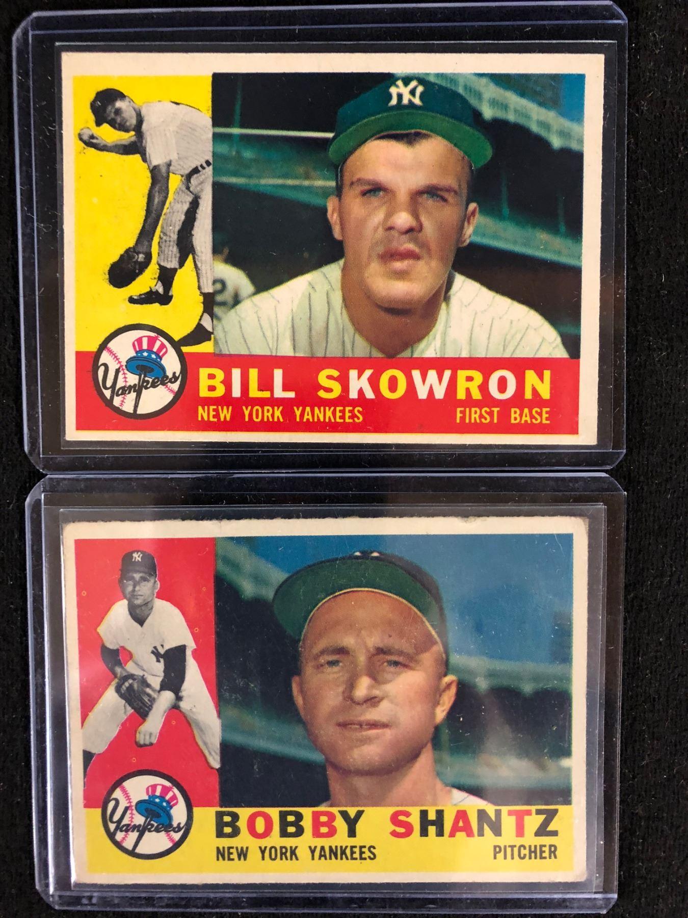 1960 Topps Baseball Cards Lot Skowron Shantz