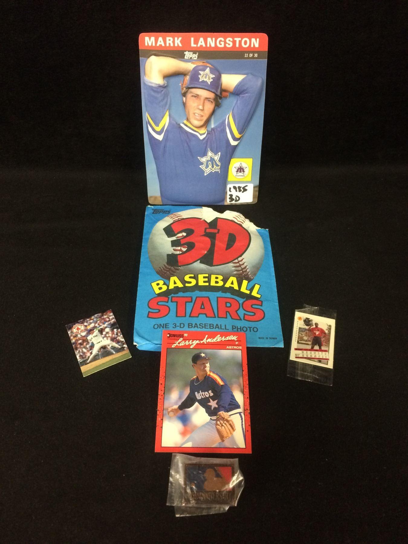 Baseball Cards 3d Photos Lot