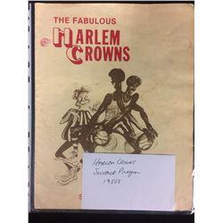 1950'S HARLEM CROWNS SOUVENIR BASKETBALL PROGRAM