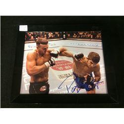 """PATRICK COTE SIGNED 8"""" X 10"""" FRAMED COLOR PHOTO (UFC)"""
