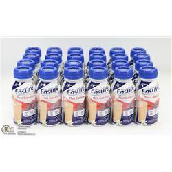 CASE OF 24 VANILLA PLUS CALORIES ENSURE MEAL