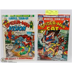 MARVEL TEAM UP #5 AND 38, BOTH 20 CENT COMIC