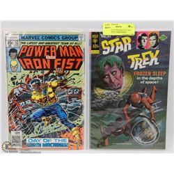 LUKE CAGE POWERMAN #52 AND STAR TREK #2 COMIC BOOKS