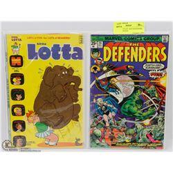 LITTLE LOTTA III  AND DEFENDERS #29 COMIC BOOKS