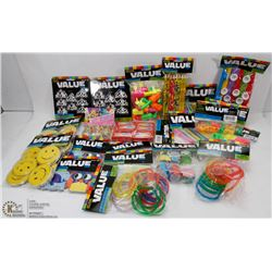 LARGE FLAT OF ASSORTED KIDS PARTY FAVORS ALL NEW