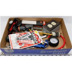 ESTATE TOOL LOT INCLUDES NEW JB WELD, MASTERCRAFT