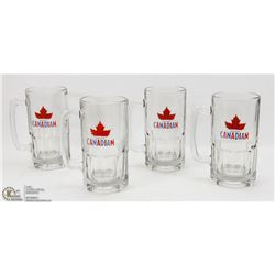 4 ONE LITER MOLSON CANADIAN BEER STEINS