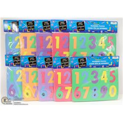 BUNDLE OF KIDS FOAM NUMBER PUZZLES
