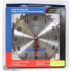 MASTERCRAFT CIRCULAR SAW BLADE CLOCK