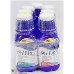 7 BOTTLES OF PHILLIPS ANTACID/ LAXATIVE 350ML EACH