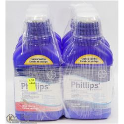 6 BOTTLES OF PHILLIPS ANTACID/ LAXATIVE