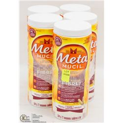 5 TUBS OF METAMUCIL FIBER POWDER