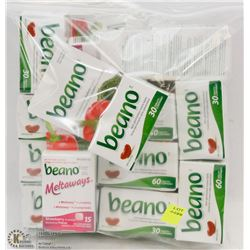 BAG OF ASSORTED BEANO TABLETS
