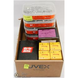 GROUP OF ASSORTED FASTENERS AND MORE INCLUDING