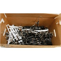 BOX OF SKIRT AND PANTS HANGERS (NEW)