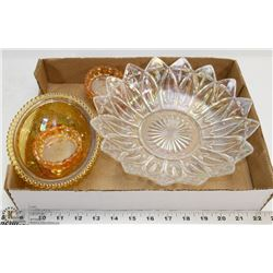 FLAT OF CARNIVAL GLASS