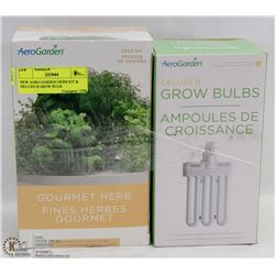 NEW AERO-GARDEN HERB KIT & DELUXE B GROW BULB