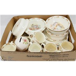 18PC ROYAL DOULTON BUNNYKINS DISH SET.