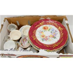 BOX OF ROYAL DOULTON & LIMOGES PLATES, AND