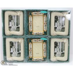 BUNDLE OF 6 ASSORTED PICTURE FRAMES