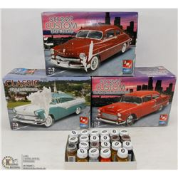 SET OF 3 STREET CUSTOM MODEL KITS 1949