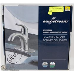 NEVER USED EUROSTREAM BRUSHED NICKEL LAVATORY