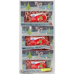 3 BOXES OF MINI PEPPERMINT CANDY CANES