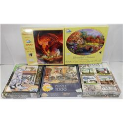 FLAT OF 5 SEALED PUZZLES ALAN GIANA 4500 PC