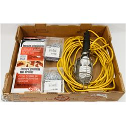 FLAT OF LAMINATE INSTALL KIT, LEVITON WORK LAMP,