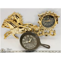 2 WALL  CLOCKS