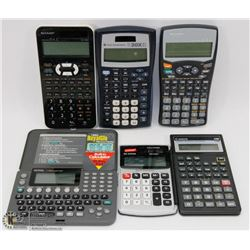 LOT OF CALCULATORS INC TEXAS INSTRUMENTS