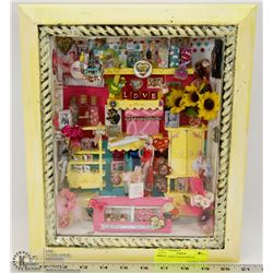 GIRL THEMED SHADOWBOX.