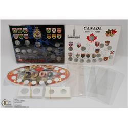 LOT OF ASSORTED EMPTY COIN SET DISPLAYS,